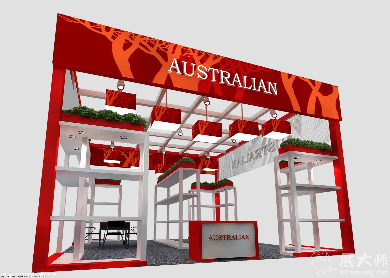 玩具展36平米展台设计效果图_36平米展台设计免费_36