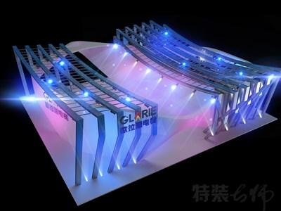 机械展36平米展台设计效果图